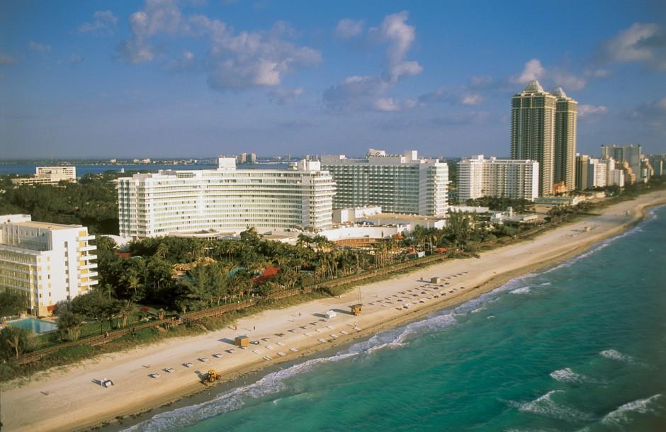 Mid-Beach hotels aerial