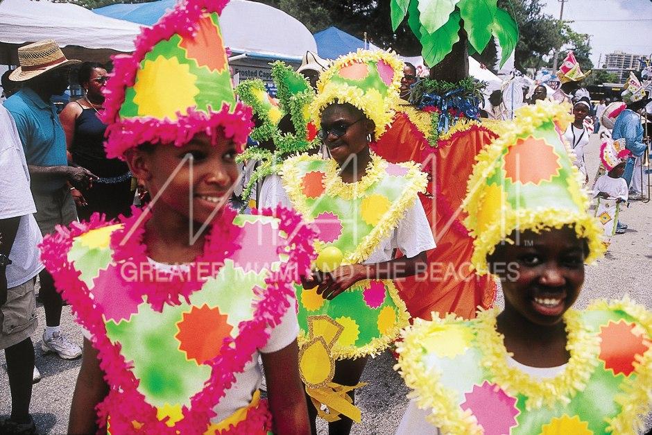 Coconut Grove Goombay Festival girls