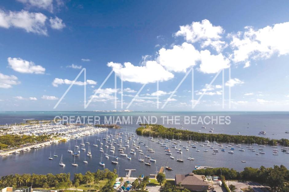 Coconut Grove Sailing Club and marina aerial