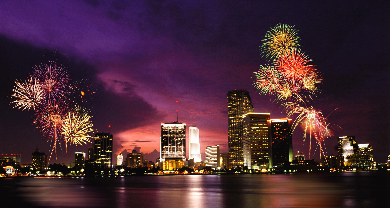 Fireworks over Miami,Florida